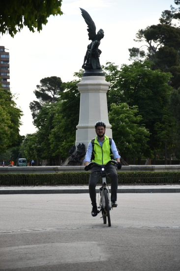Riding through Retiro Park